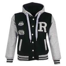 kids girls boys r fashion nyc fox baseball hooded jacket varsity