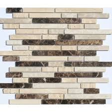 Lowes Canada White Subway Tile by Faber 12 In X 14 In Sandalwood Freeway Blends Mosaic Natural Stone