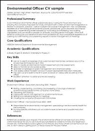 Environmental Officer Sample Veterinary Cv Template Vet Surgeon Veterinarian Resume