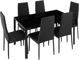 jeobest esszimmerstühle 6stk hochlehner esszimmer kunstleder leder polster stuhl schwarz