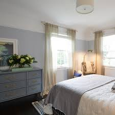 Gold And White Chevron Curtains by Gray Bamboo Dresser With Gold Pulls Transitional Bedroom