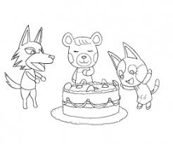 3 Animal Crossing Coloring Page