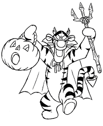 Disney Halloween Colouring Pages For Kids