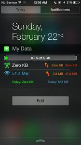 Monitor Your iPhone s Network And Data Usage From Notification Center