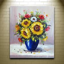 Find More Painting Calligraphy Information About Handpainted Beautiful Flower Oil Modern Art Canvas