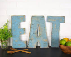 Rustic Eat Sign Wooden Letters Kitchen Farmhouse Decor Wood Wall