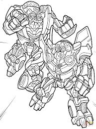 Bumblebee And Jazz Coloring Page
