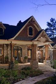 Tranquility House Plan Front Elevation Love The Stone And Wood