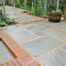 Natural Sandstone Slabs Are Unique Purchasing A Patio Pack Saves Time And Is An Economical Way To Lay Your