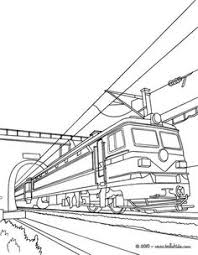 Old Electric Train Leaving A Tunnel Coloring Book