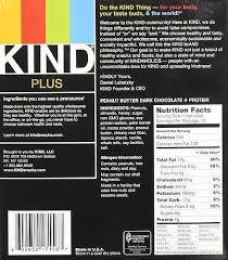Kind Bars Nutrition Information Peanut Butter Dark Chocolate Protein Gluten Free Pack Bar
