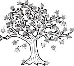 Fall Maple Tree Coloring Page