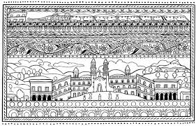 Architecture And Living Throughout Spanish Coloring Pages