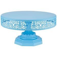 Amalfi Decor 12 Inch Round Metal Birthday & Wedding Cake Stand