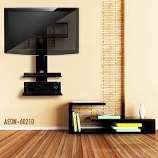 Amazon Swiveling TV Wall Mount with Two Shelves Shelf