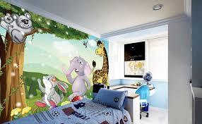 chambre enfant savane décoration murale papier peint pour bébé et enfant les animaux de la