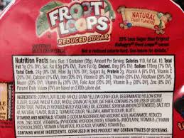 Fruit Loops Nutrition Label