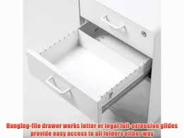 poppin locking metal file cabinet 3 drawer 24 tall letter legal
