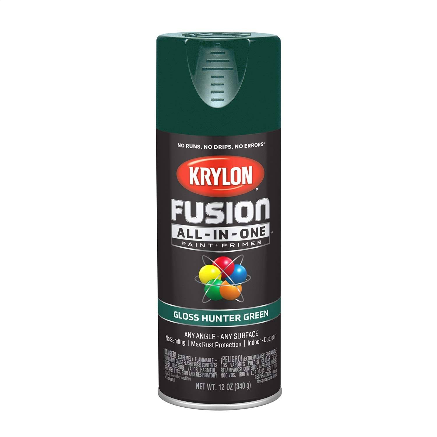 Krylon K02789007 Fusion All-in-One Spray Paint, Hunter Green