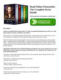 Read Online Elementals The Complete Series Kindle Click Button Below To Download Or This Book