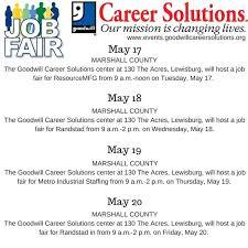 Job Fairs in lewisburgtn May 17 20