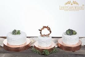 Hammered Copper Cake Stand Wedding Metal Rustic