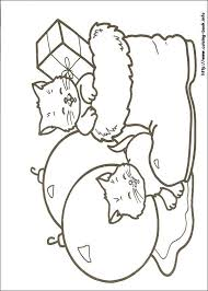 Christmas Cats Print This Coloring Page For Free