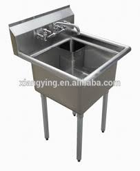 430s s stainless steel galvanized fish cleaning table with sink