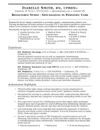 Interesting Pacu Nurse Resume Samples With Sample Nurses Template For