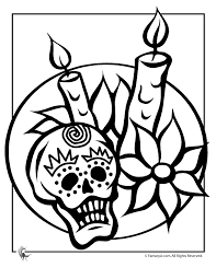 Day Of The Dead Halloween Coloring Page