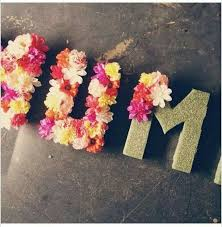 DYI Foam Letters And Fake Flowers