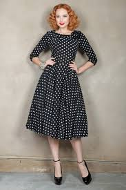 online buy wholesale black and white polka dot retro dress from
