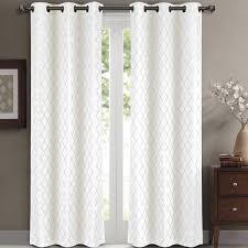 Ruffle Blackout Curtain Panels by Black And White Curtains Blackout Black And White Curtains