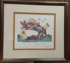 Heywood Wakefield Rio Dresser by Jonah And The Whale U201d Offset Lithograph Auction Pickers Usa