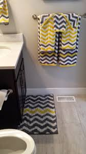 Yellow And Gray Chevron Bathroom Set by Berries Of Wisdom Interesting Facts About Uranus In The Bathroom
