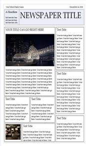 1 Newspaper Template For Word Download It HERE