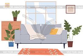 modernes möbeldesign im wohnzimmer sofa mit vector