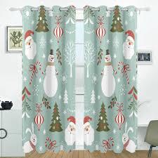 Amazoncom Anhounine ChristmasBlackout CurtainRed Retro Style