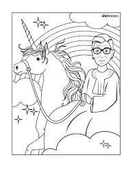 National Womens History Month Coloring Pages Ruth Bader Ginsburg Book
