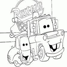 Mater And Guido Of Disney Cars Coloring Page Free For Kids Download Print