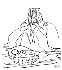 Click The Baby Moses Coloring Pages To View Printable