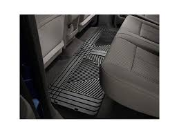 Laser Measured All Weather Floor Mats by Weathertech F 150 All Weather Rear Rubber Floor Mats Black W25