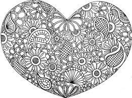 View Gallery With 37 Heart Zentangle Coloring Pages Images