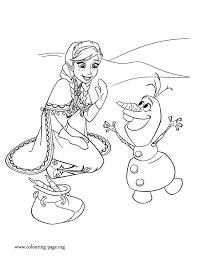 Coloriage Reine Des Neige Anna Olaf Frozen Coloring