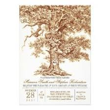 Romantic Old Oak Tree Rustic Wedding Invitation