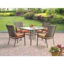 Mainstays Patio Set Red by Mainstays Oakmont Meadows 3 Piece Bistro Set Seats 2 Mainstays