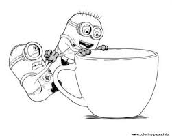 Cute Cartoon Minions Despicable Me S45ec Coloring Pages Print Download