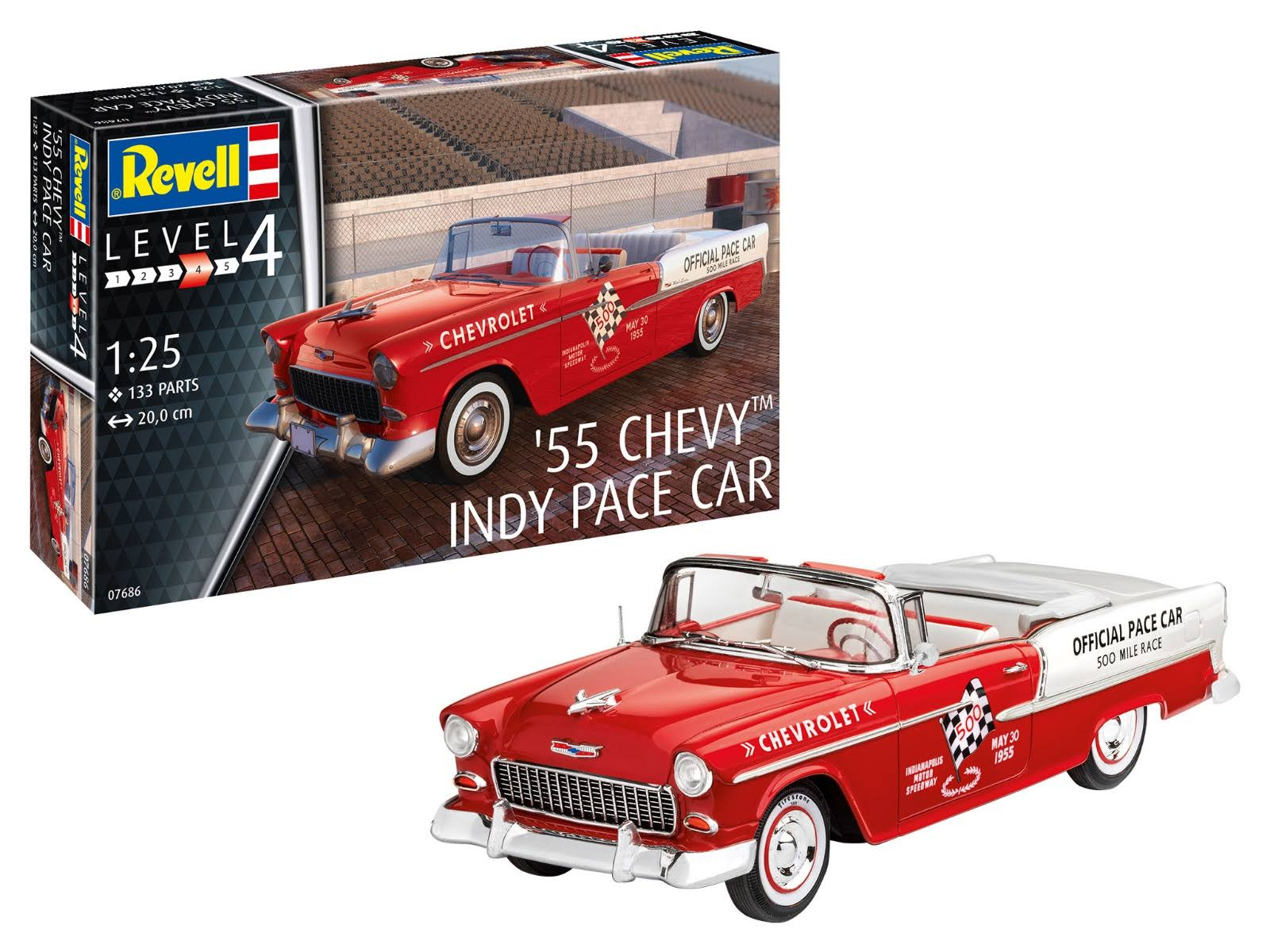 Revell 07686 1955 Chevy Indy Pace Car Model Kit - Scale 1:25