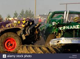 Trucks In Demolition Derby, Barrhead, Alberta Stock Photo: 27760213 ...