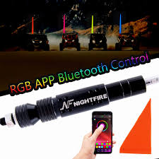 NF NIGHTFIRE Night Fire 5FT Bluetooth RGB Whip Light LED Antenna ...